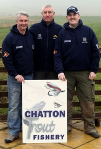 Bank Team Manager Alan Jenkins with Team Clothing sponsor John Grant www.Grantz.co.uk and Team Captain Terry Phillips