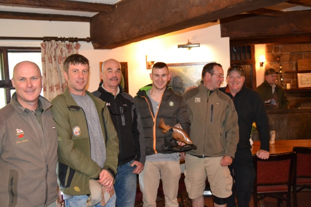 (L-R) Dave Drake, Martin Burgess, Tony Baldwin, Lewis Hendrie, John Tyzack & Andrew Gooding