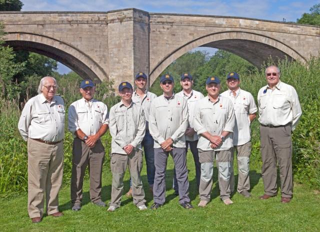 Peter Godfrey (International President), Mike Tinnion (Manager), Simon Robinson, Lee Bartlett, Robert Brown, Terry Phillips (Captain), Andy Cliffe, John Tyzack & Ian Campbell (IFFA)